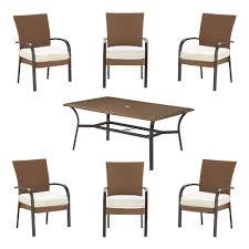 Hampton Bay Outdoor Table by Hampton Bay Corranade Custom 7 Piece Wicker Outdoor Dining Set