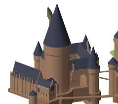 hogwarts 3d rendering by snipperdepipper on deviantart