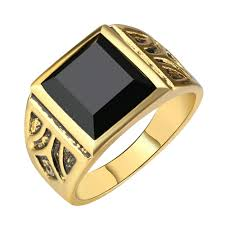popular cheap gold rings for men buy cheap men jewelry high quality black gold ring men wedding party