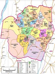 Map Of Area Codes Map Of Imo State Of Nigeria Showing All The 21 Local Figure 8