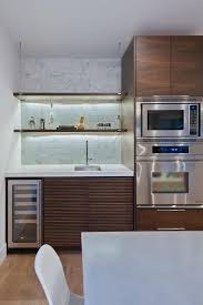 furniture floating open shelves with floating microwave and wet