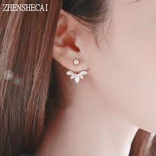 stud ear new flower stud earrings for women fashion ear jacket