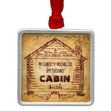 log cabin ornaments keepsake ornaments zazzle