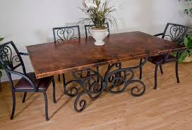 Copper And Iron Dining Table  Copper Furniture Free Shipping - Copper kitchen table