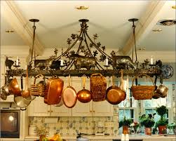 kitchen pot rack ideas wall mounted pot and pan rack ceiling pan