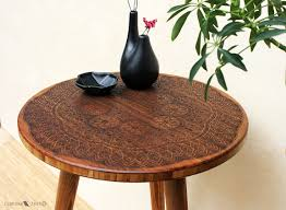 side tables modern coffee table boho coffee table for greatest engraved wood coffee