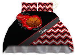 Chevron Bedding For Girls by Girls Basketball Duvet Cover Red Teen Bedding Kids Chevron