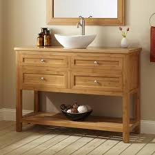 Bathroom Vanity Standard Depth Depth Thayer Bamboo Vessel Sink Console Vanity Traditional