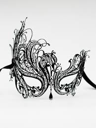 metal masquerade mask deluxe metal black filigree lace venetian masquerade mask