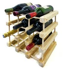 buy wood wine rack 12 bottle expandable modular solid pine