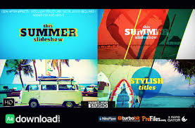 favorite summer slideshow videohive free download free after