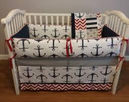 anchor crib bedding etsy