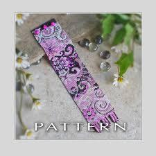 bracelet beads pattern images Arabesque fuchsia bracelet bead pattern francesca 39 s fancy jpg