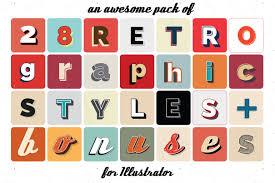 retro graphic styles for illustrator by loriba graphicriver