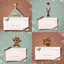 retro christmas card templates vector vector graphics blog