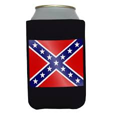 Confederate Flag Rear Window Decal Black Confederate Rebel Flag Drink Koozie