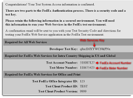 during the test mode should i use my fedex account number or test