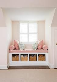 kids reading bench pink kids window seat transitional girl s room