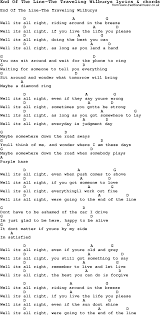 traveling wilburys end of the line images Love song lyrics for end of the line the traveling wilburys with png