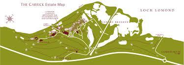 estate map cameron house lodges carrick estate map in loch lomond