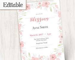 blessing invitation blessing invitation etsy