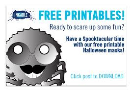 free printable halloween bookmarks have a spooktacular time with free printable halloween masks from