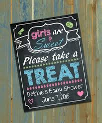 baby shower sweet treats table poster candy buffet table