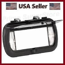 clip on visor light new led lighted black clip on sun visor vanity mirror car automobile