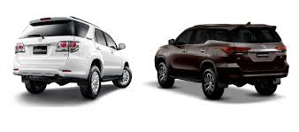 fortuner toyota fortuner old vs new rear angle carblogindia