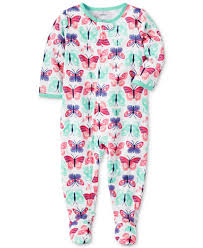 s 1 pc butterfly print footed pajamas baby 0 24