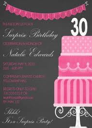 pink 30th birthday invitation by fabpartyprints