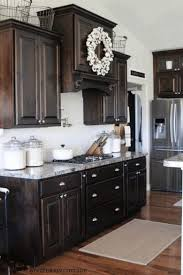 dark kitchen ideas built in microwave and oven white color wooden