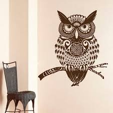 Mural Stickers For Walls Popular Owl Wall Decal Buy Cheap Owl Wall Decal Lots From China