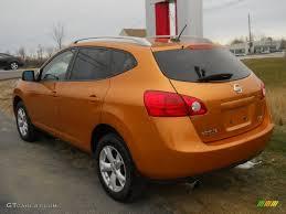 nissan rogue exterior orange alloy metallic 2008 nissan rogue sl awd exterior photo