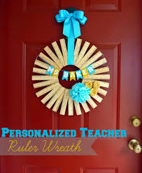 teacher gift idea personalized ruler wreath