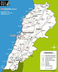 beirut on map maps lebanon clean green lcg environmental resource website