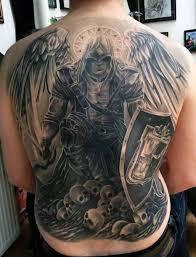 21 guardian tattoos on back