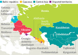 map of europe russia and the independent republics post soviet world what you need to about the 15 states