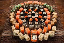 food sushi roll ornament japanese restaurant stock photo