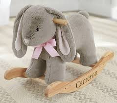 bunny plush nursery bunny plush rocker pottery barn kids