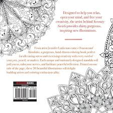 amazon com ornamental mandalas 30 meditative coloring patterns