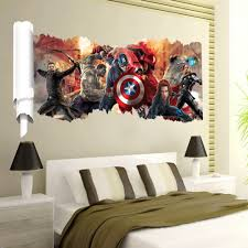 cartoon 3d popular super hero wall sticker for boys room child art cartoon 3d popular super hero wall sticker for boys room child art decor decals zy y001