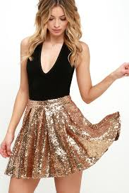 sequin skirt pretty gold skirt sequin skirt skater skirt mini skirt 59 00