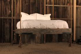 single hanging day bed mounted on wall do it yourself home hand crafted rustic hanging bed by ben riddering design bedroom ideas pinterest bedroom benches