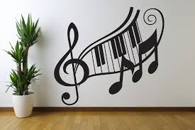 good music notes wall art decals 34 for dog sayings wall art with