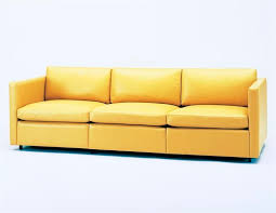 contemporary sofa fabric leather 3 seater pfister by