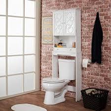 Bathroom Over The Toilet Storage amazon com over the toilet storage cabinet space saver modern