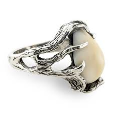 ivory ring elk free form tooth ivory ring park city jewelers