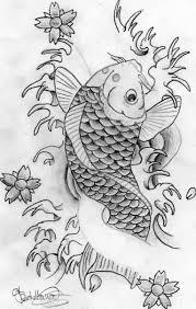 draw sketch a beautiful koi fish tattoo design tattooshunter com