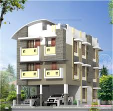 three story home plans 3 story home design in 3630 sq kerala and floor loversiq